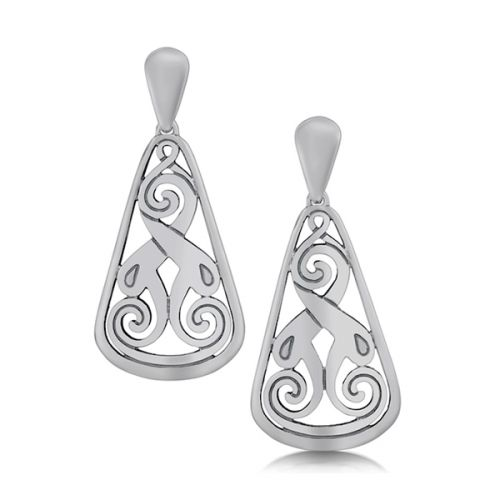 Silver Celtic Earrings - Birsay Disc - Sheila Fleet Jewellery
