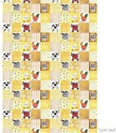 Checkerboard Farm Tea Towel