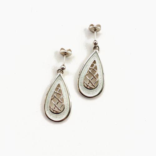 Tidal Treasures - Earrings - Crystal Enamel
