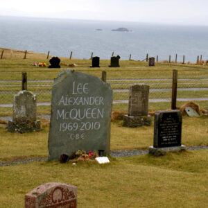 Alexander McQueen Grave in Kilmuir Cemetery, Skye