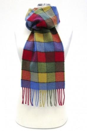 Border lambswool scarf