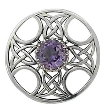 Sterling silver celtic cross brooch
