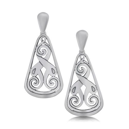 Silver Celtic Earrings - Birsay Disc - Sheila Fleet Jewellery