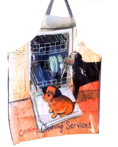 Canine Cleaning Services Dog PVC Apron by Alex Clark Art