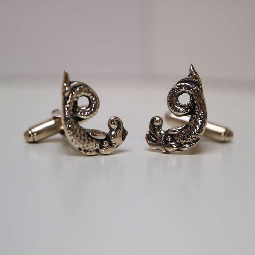 Ornais Silver Cufflinks by Hebridean Jewellery