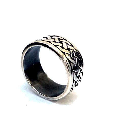 Book of Kells Dress Ring in Sterling Silver